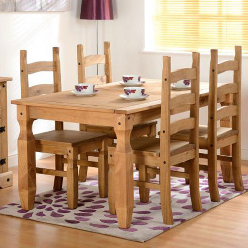 Corona Waxed Pine 5ft Dining Set