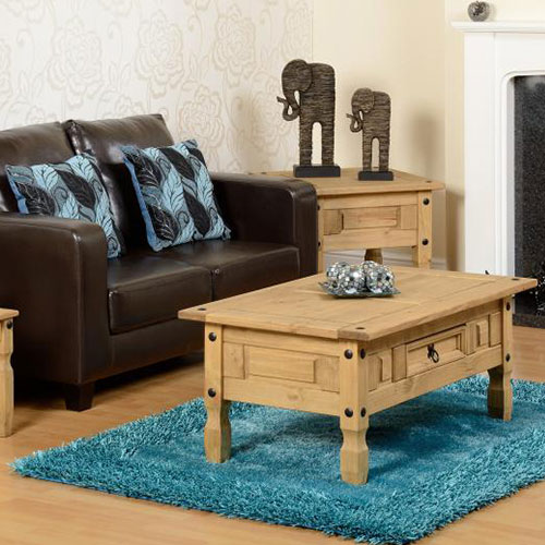 Corona waxed pine coffee table 1 drawer beautiful for Coffee tables norwich