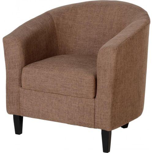 Tempo Tub Chair in Sand Fabric | Beautiful Furniture Bits Norwich