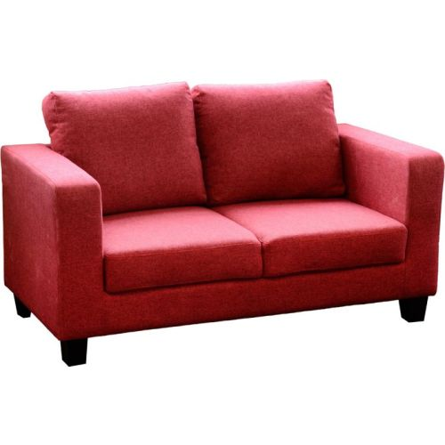Tempo Two Seater Sofa In A Box Red Fabric Beautiful Furniture Bits Norwich