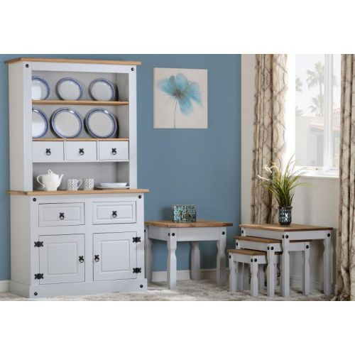 and south buffet hutch hampton white diamond