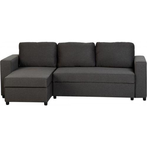 Magnificent Dora Corner Sofa Bed In Dark Grey Fabric Machost Co Dining Chair Design Ideas Machostcouk