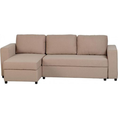 Wondrous Dora Corner Sofa Bed In Light Brown Fabric Machost Co Dining Chair Design Ideas Machostcouk