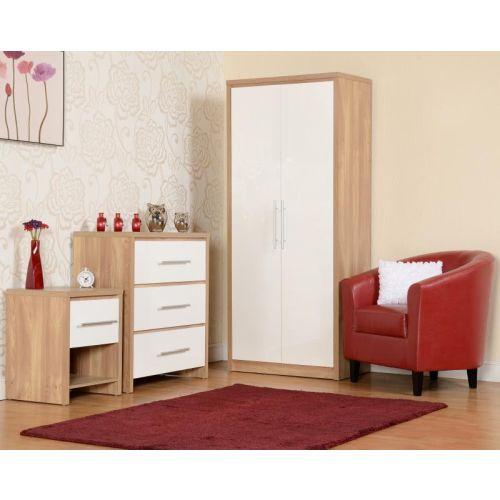 Glamorous Bedroom Chairs Bedroom Door Accessories Diy Romantic Bedroom Decorating Ideas Bedroom Renovation Ideas: Seville 2 Door 1 Drawer Wardrobe In Light Oak Effect