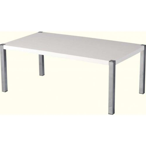Charisma Coffee Table In White Gloss Chrome Beautiful Furniture Bits Norwich