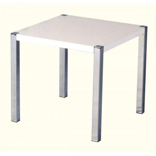 Charisma Lamp Table In White Gloss Chrome Beautiful Furniture Bits Norwich