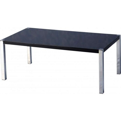 Charisma Coffee Table In Black Gloss Chrome Beautiful Furniture Bits Norwich